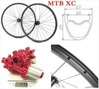 27*25 All mountain 29er wheels carbon tubeless ready hookless wheels full carbon 29 mtb wheel XC wheels MTB Rims