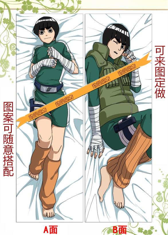 Livraison gratuite nouveau japonais Anime étreinte taie d'oreiller 50X150 cm NARUTO Rock Lee
