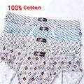 Men Underwear 100% хлопковые Трусы Печати Трусы Оптовая 4 шт./лот M3615 L ~ 5XL