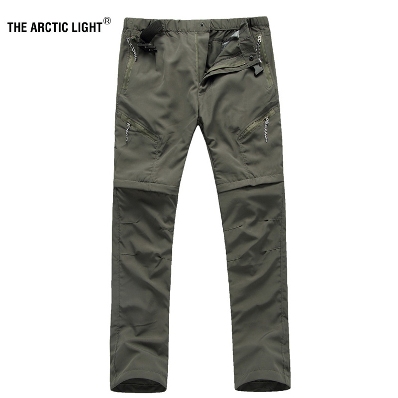 THE ARCTIC LIGHT Men Quick-drying Pants Waterproof Breathable Perspiration UV Trousers Cycling Outdoor Camping Hiking