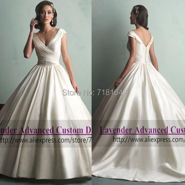 Satin Wedding Ball Gown