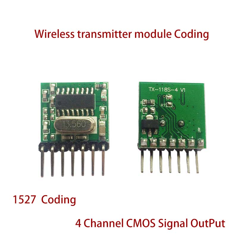 Image 3 - Universal 5 pieces 433 Mhz Superheterodyne RF wireless transmitter module 1527 Encoding EV1527 Code 3V 24V For Remote control-in Remote Controls from Consumer Electronics
