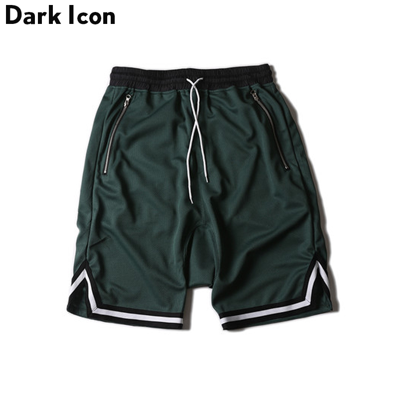 DARK ICON Färg Kontrast Drop Crotch Hip Hop Mens Shorts 2018 Sommar - Herrkläder - Foto 3