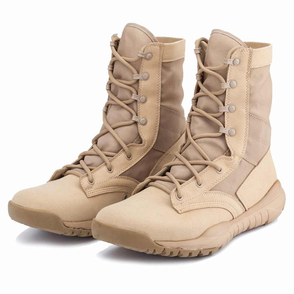 a12c01d585f Autumn Outdoor Army Boots Men's Special Force Military Tactical Boots  Desert Combat Boots Shoes Waterproof Ankle Boots IDS305