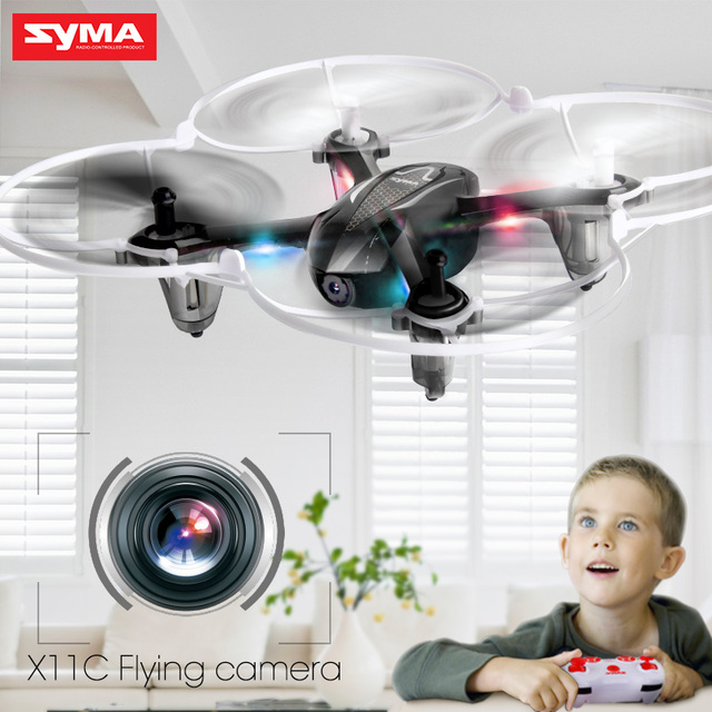 SYMA X11C 2.4G 4CH 6 AIXS GYRO 3D Flip Headless Mode Mini Drone With HD Camera Quadcopter Helicopter Dron High Quality Toys