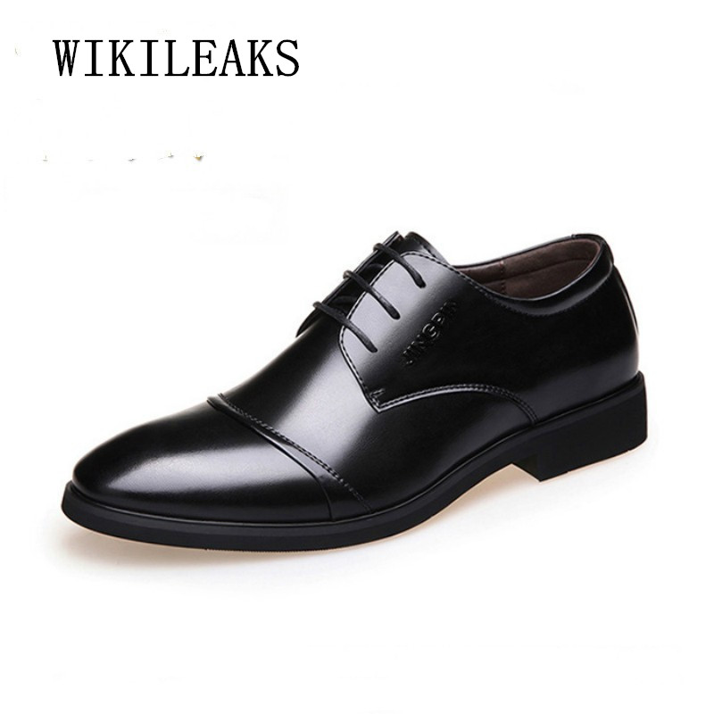 цена на 2018 Italy Formal Men Shoes Oxfords Shoes For Men Wedding Dress Shoes Leather Office Dress Shoes Zapatos Hombre Sapato Masculino