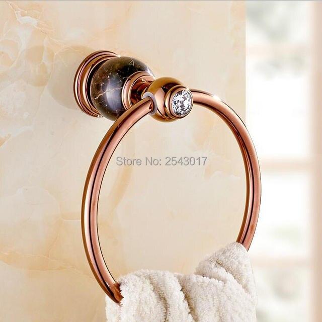 Bad accessoires Rose Goldene Handtuchring Wand Montiert Luxus ... | {Badaccessoires stein 58}