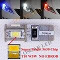 2 x t10 nenhum erro samsung chip de carro levou luz de estacionamento lâmpadas 12 V Para peugeot 307 206 301 207 2008 508 301 3008 Carro Styling