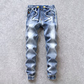 2017 New Brand Mens Designer With Elastic Joggers Jeans For Men Hip Hop Style Fashion Slim Fit Jeans Denim Harem Pants Trousers