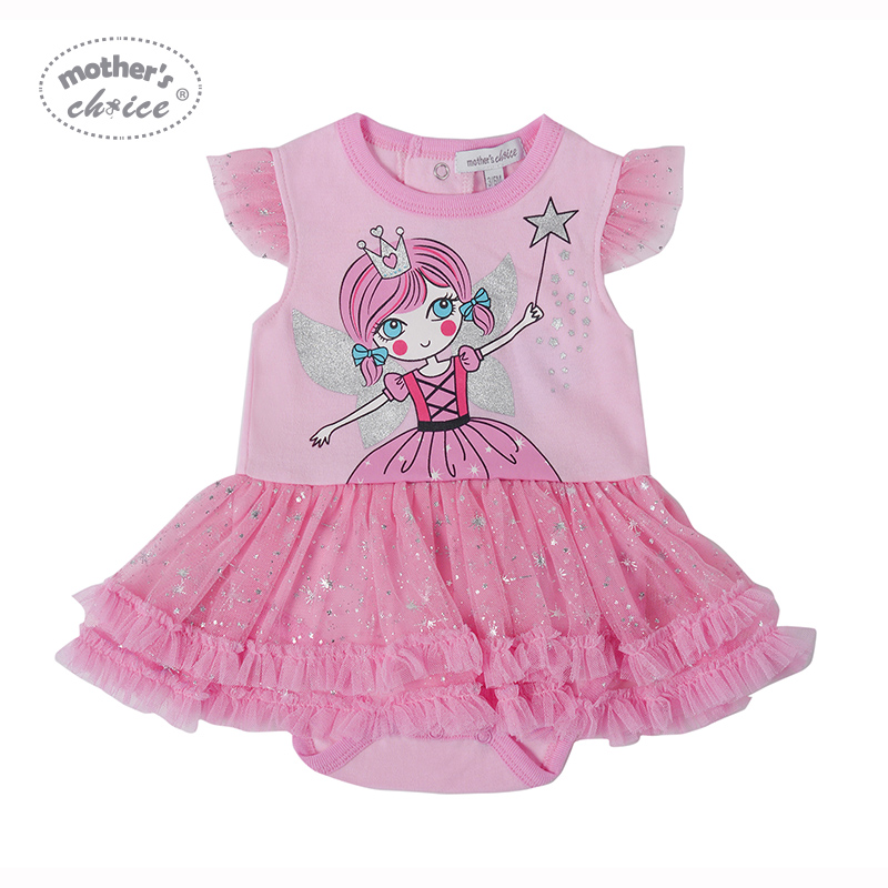 Body dla matki Baby z falbankami Cotton Girl Dress Odzież letnia - Odzież dla niemowląt - Zdjęcie 1