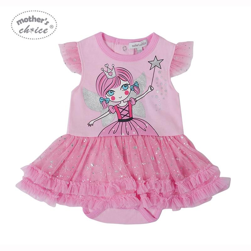 977fee51502 Η επιλογή της μητέρας μωρό καρφίτσα με Frills Φόρεμα κορίτσι βαμβάκι ...