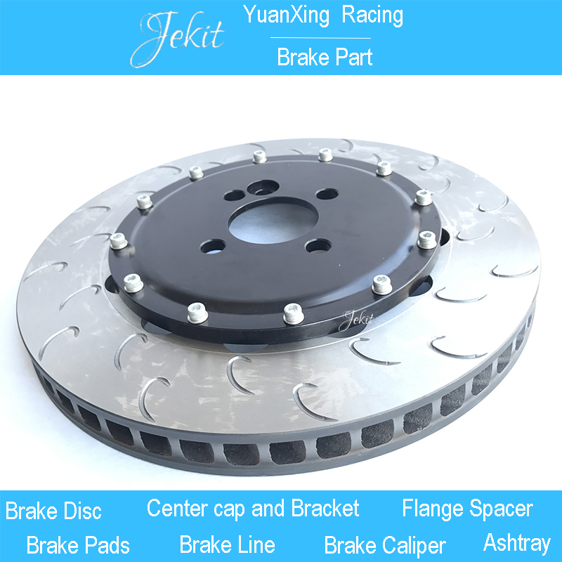 Jekit Brake rotors 355*32mm with black center bell for Big 4 Pistons JK8530 brake set For Toyota Land Cruiser 100 front brake