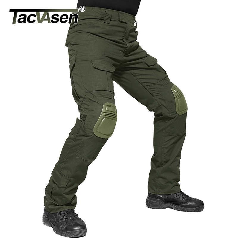 Tacvasen Mannen Militaire Broek Met Kniebeschermers Airsoft Tactische Cargo Broek Leger Soldaat Combat Broek Broek Paintball Kleding