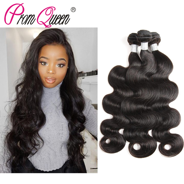 Prom Queen Body Wave Cambodian Human Virgin Hair Bundles Deal 3