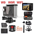 W9 W9R 2.4G câmera Wi-fi controle Remoto série h9 2 polegada 1080 P fhd câmera ação kamera deportiva xiao ir yi mi sj pro esporte cam