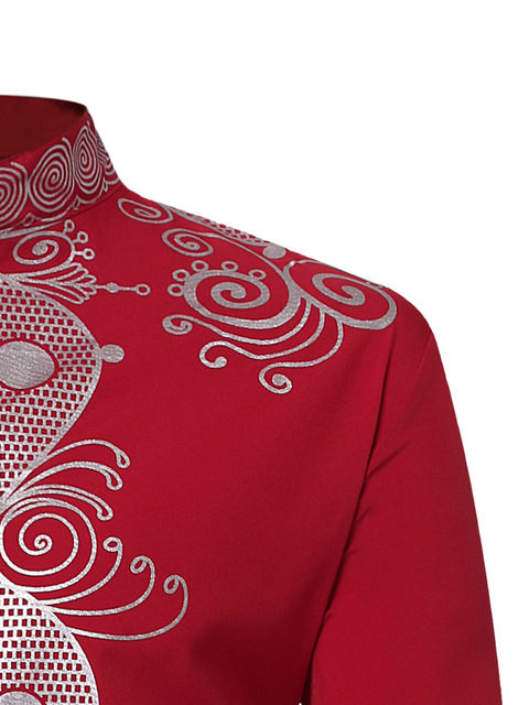 Mens Hipster African Print Dashiki Dress Shirt 2018 Brand New Tribal Ethnic Shirt Men Long Sleeve Shirts Africa Clothing Camisa 3