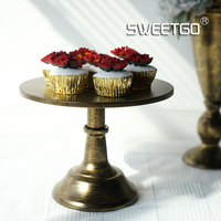 New Arrive Vintnage Gold Cake Stand 10inch 12inch Wedding Party Table Decoration Supplier Cake Accessory Tools