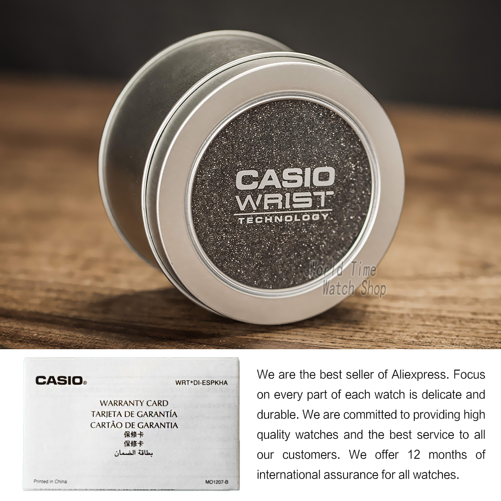 Casio часы золотые женские часы лучший бренд класса люкс водонепроницаемые кварцевые часы женские светодиодные цифровые спортивные женские ... - 6