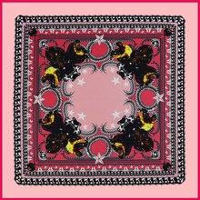 Silk Scarf 100*100CM 2016 New Spring Brand Women Silk Square Scarf Women Luxury Fashion Metal Chain Print Scarf Silk Scarves