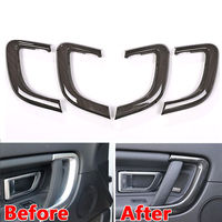 BBQ FUKA New Wood Style Car Inner Door Handle Frame Cover Trim Styling Sticker Fit For