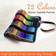 Colored Pencils Set Art Drawing 72 Colors High Profession Water Soluble Color Lead Canvas Bag Package LF01-10009 ITSYH