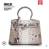Ouluoer новая сумка из кожи питона для Дамская змеиная кожаная сумка, сумка на одно плечо для банкета, большая емкость, женская сумка из змеиной