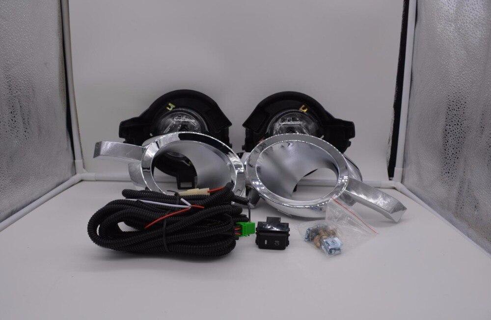 eOsuns галоген. противотуманная фара с проводами, проводка, выключатель, противотуманная фара доме и рамкой полный комплект для Ниссан Патфайндер 2010-2012