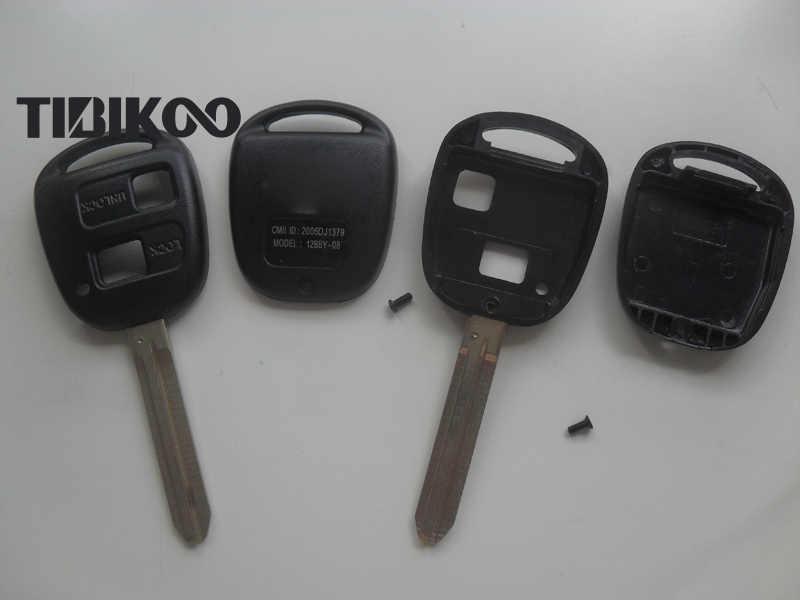 قطع تبديل شفرة مفتاح الفراغات 2 أزرار لتويوتا فيل بريفيا كامري برادو مفتاح بعيد قذيفة TOY43 شفرة 10 قطعة/الوحدة