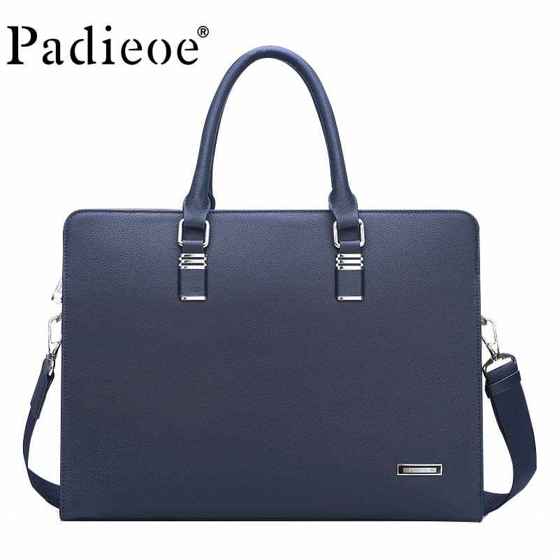 designer luxury brand men handbags purses original leather cow messenger business briefcase casual men's shoulder bag portfolio