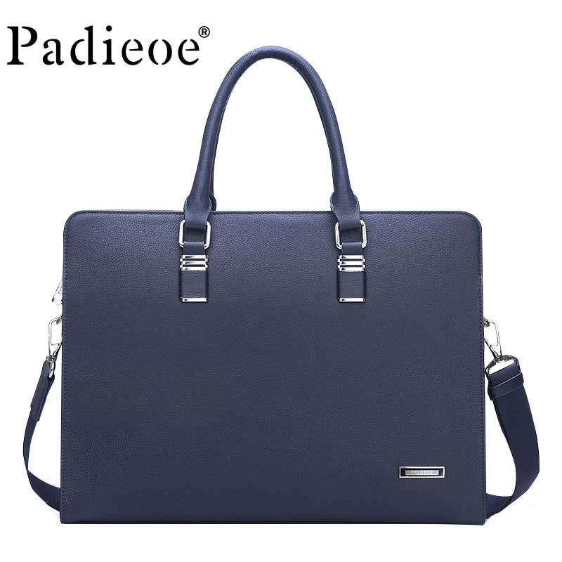 Designer Luxury Brand Men Handbags Purses Original Leather Cow Messenger Business Briefcase Casual Men's Shoulder Bag Portfolio