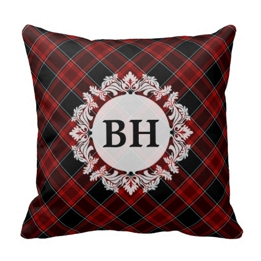 Pillows Cover Red Black And White font b Tartan b font Plaid Pattern Cushion Cover Size