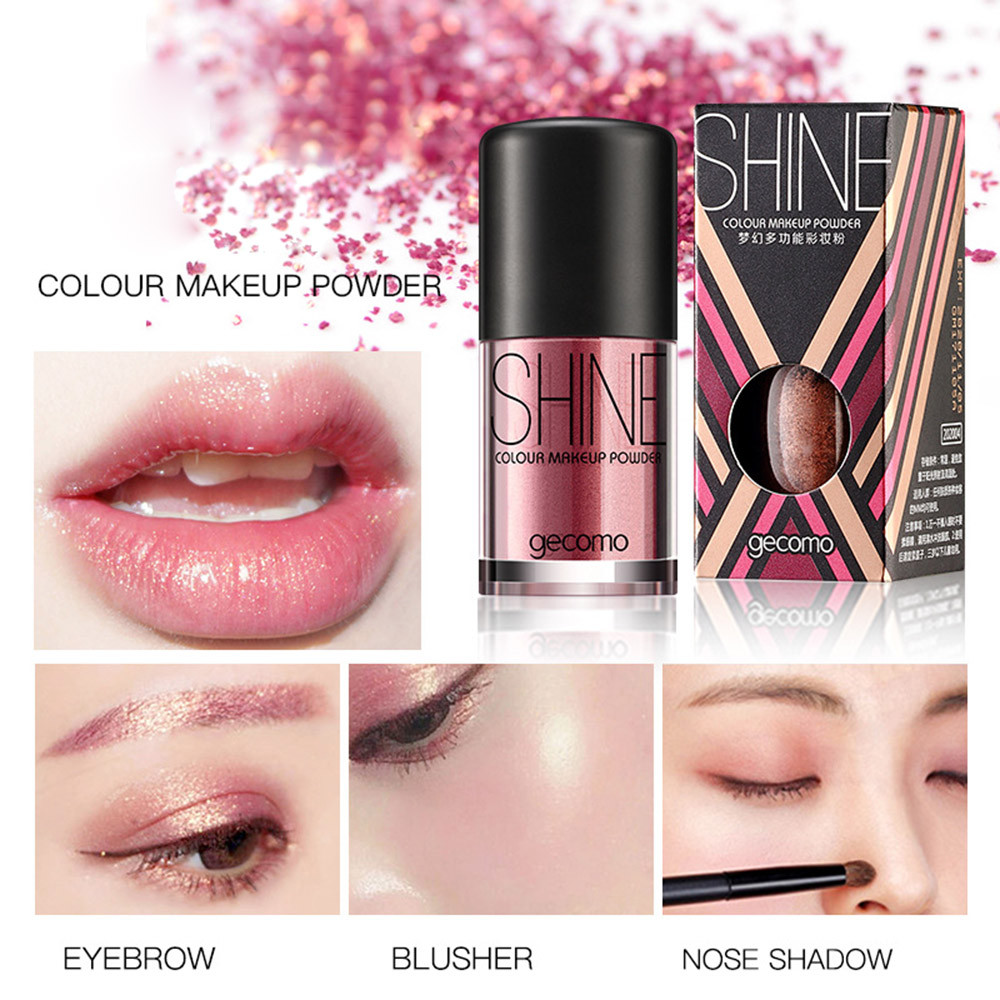 Eye Shadow New Multi-function Monochrome Eye Shadow Glitter Pearl Mermaid Ji Gaoguang Powder Glitter Powder Body Flash Beauty & Health