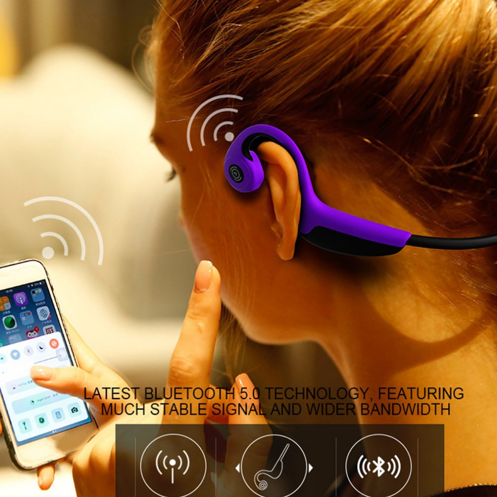 Bluetooth 5.0 Wireless Headphones Bone Conduction Earphones Sweatproof Outdoor Sports Headset Listening to Music 5 port rs485 hub bidirectional hub dmx512 photoelectric isolation industrial 1 tow 4 copy type