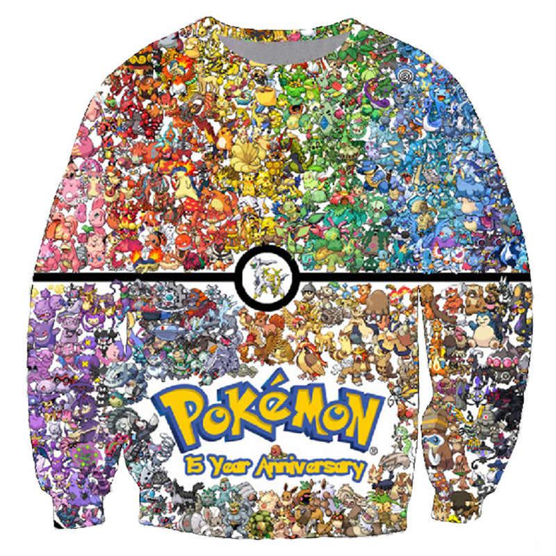 Plstar cosmos pokemon 8-bit colagem pokemon moletom feminino 90s jogo de vídeo/anime 3d impressão sweats pullovers jumper tamanho grande
