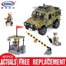 цена на XingBao 06012 497Pcs Genuine Military Series The Ryan Car Set Building Blocks Bricks Toys Educational Funny Gifts to Children