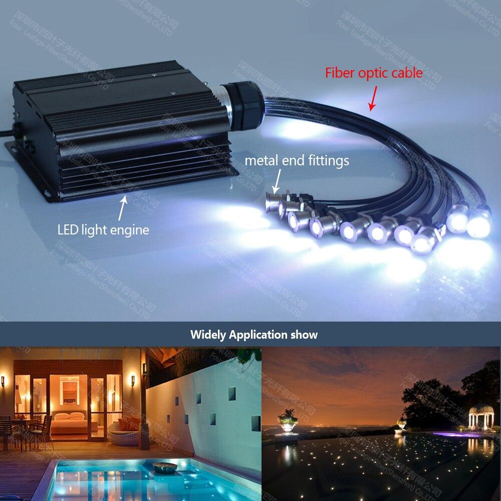 factory 2mm pmma end emit underwater fiber optic lighting pool ...