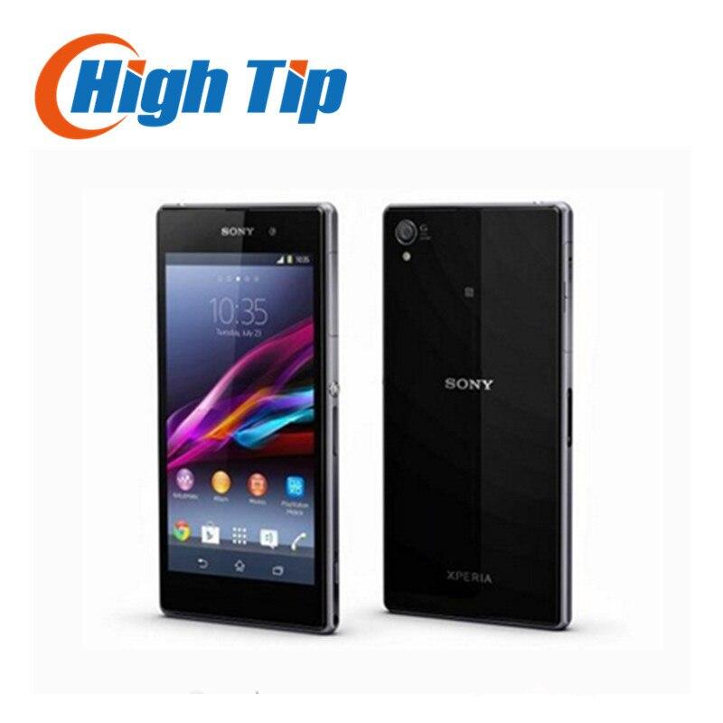 """Цена за L39h оригинал sony xperia z1 l39h разблокирована телефон quad core 2 ГБ + 16 ГБ памяти 20.7mp камера 5.0 """"экран восстановленное"""