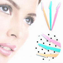 3Pcs Professional Face Eyebrow Hair Removal Razors Eyebrow Trimmer Shaper Shaver For Women Cosmetics Tool