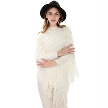 все цены на women pullover knitted shawls stole capes wraps overpull femme sweater shawls pullon coat spring shawls with fringes