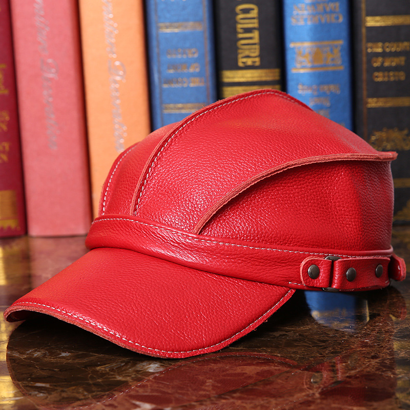 Outdoor cold warm winter sun hat peaked cap leather leather men's Baseball Cap Hat new post woven lable of men and women cold hat money lady knitting hat qiu dong the day han2 ban3 warm pointed