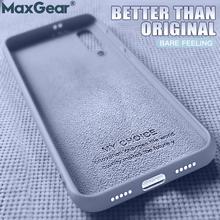 Oryginalny silikonowe etui z płynem pokrywa dla SamSung Galaxy S8 S9 S10 Plus 5G S10E uwaga 10 Pro 8 9 S7 krawędzi A60 A70 A50 A40 A30 2019 tanie tanio MaxGear Heavy Duty Ochrony Anti-knock Odporna na brud Aneks Skrzynki Original Soft Liquid Silicone Cases Cute Shell A50 A70 A40 A30 A20 A10
