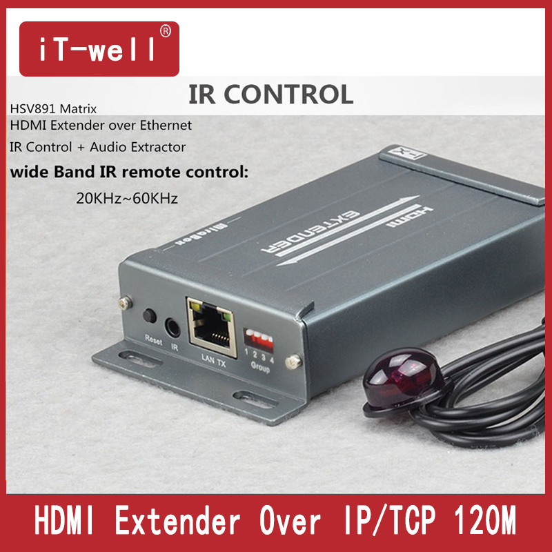 Matrix TCP IP HDMI Extender IR N X N 120m over Cat5/5e/6 UTP STP Rj45 Cable HDMI Ethernet Transmitter and Receiver Over IP hdmi over ip matrix by cat5 cat5e hdmi extender support full hd with ir remote and audio extractor transmitter and receiver