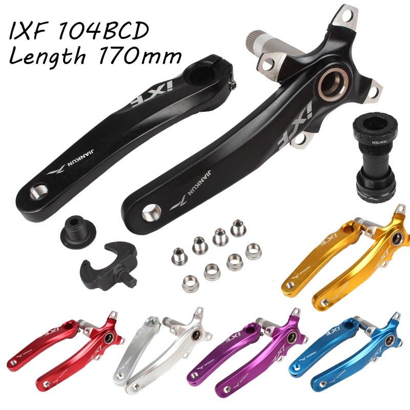 Набор кривошипов для велосипеда IXF 104 BCD CNC Untralight Crank Arm MTB/Road Crankset с BB Crank для аксессуаров для велосипеда