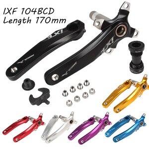 Image 1 - אופניים כננת סט IXF 104 BCD CNC Untralight כננת זרוע MTB/כביש עם BB Crank עבור אופניים אביזרי אופני חלק