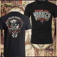 Kühlen YAKUZA PREMIUM T-Shirt YPS Schwarz T-Shirts Baumwolle Tees Rundhals Mode T Shirt Hipster Coole Tops T Plus Größe