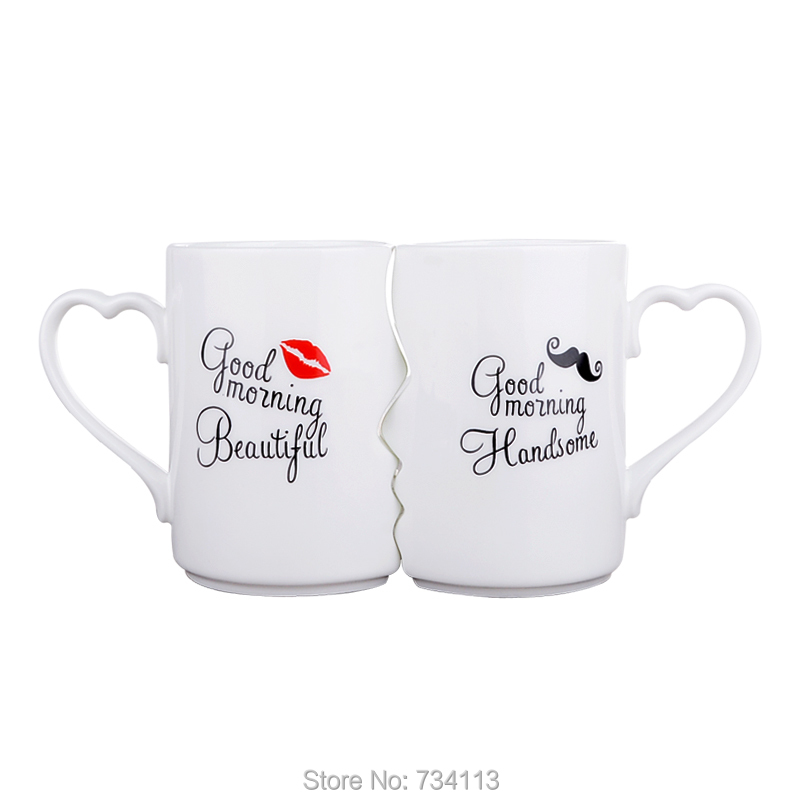 mugs KISS style gift mugs  for coffee and  wtaer 1 pair cute mugs gift for boyfriend on anniversary