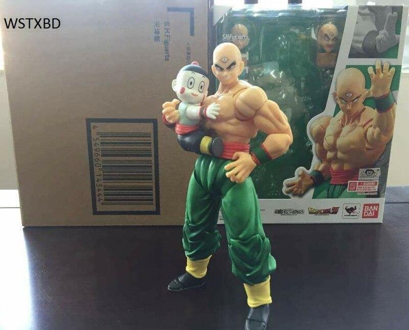 WSTXBD Original BANDAI Dragon Ball Z S.H. Figuarts SHF tenshihan Figure Brinquedos Dolls Toys Figurals цена 2017