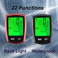 Wireless Bike Speedometer Waterproof Cycle Cycling Odometer LED Bicycle Computer ZMB01