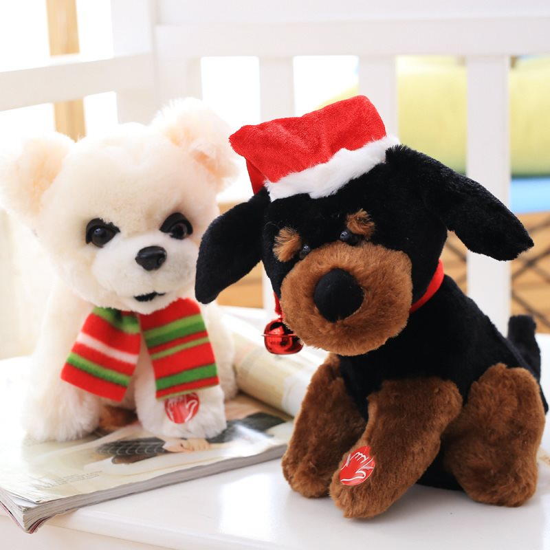Puppy plush toy singing and dancing spin dog music electric toys couple dog doll Valentines Day gift