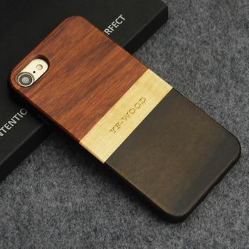 Cas de Téléphone En Bois naturel Pour iPhone 7 8 8 plus Cas Unique Antichoc Hybride Couverture Réel En Bois Breveté pour Apple iPhone 7 Plus